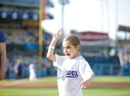 Cedars-Sinai patient throws out first pitch
