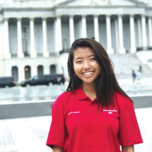 Choi traveled to Washington, D.C., where more than 200 students participated in a national leadership summit. (photo courtesy of Eun Seo Choi)