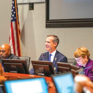 Mayor Eric Garcetti will serve as chairman of the Metro board through June 30, 2018. (photo courtesy of the mayor's office)