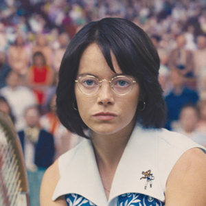 """Emma Stone as Billie Jean King in """"Battle of the Sexes.""""(photo courtesy of Fox Searchlight Pictures)"""