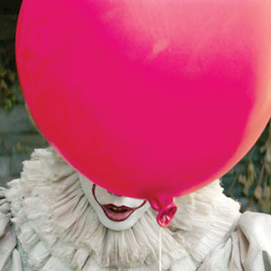 """Bill Skarsgård as Pennywise in """"It.""""(photo courtesy of  Warner BrothersPictures)"""