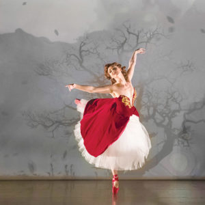 """Ashley Shaw in Matthew Bourne's production of """"The Red Shoes."""" (photo by Johan Persson)"""