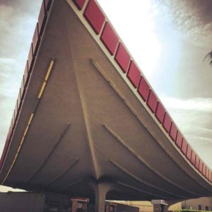 The Union 76 gas station is located on North Crescent Drive, near Beverly Hills City Hall and the Wallis Annenberg Center for the Performing Arts. (photo by Andy Kitchen)