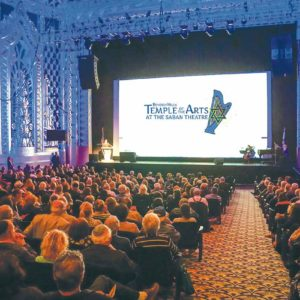 Beverly Hills Temple of the Arts holds services in the historic Saban Theatre on Wilshire Boulevard.(photo courtesy of Beverly Hills Temple of the Arts)