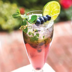 Blueberry Lavender Fizz (photo courtesy of Polo Lounge)