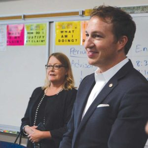 Newly elected LAUSD school board member Nick Melvoin was one of four board members to put forth a resolution calling for the federal government to increase the funding it gives school districts to support their disabled students. (photo by Jaclyn Cosgrove)