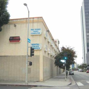 A developer is proposing a mixed-use project at the southeast corner of Argyle and Selma avenues in Hollywood, where the Ametron Electronics store is located. (photo byEdwinFolven)