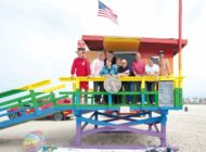Board keeps rainbow colors on lifeguard tower