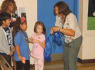 Rosewood Avenue Elementary students get new backpacks