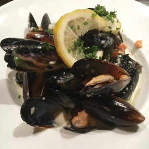 The list of appetizers at Ulysses Voyage includes fresh mussels.  (photo courtesy of Ulysses Voyage)