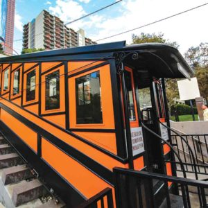 Angels Flight resumed service after a few years' hiatus. (photo courtesy of the mayor's office)