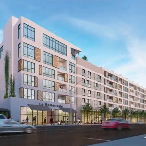 A rendering shows Solstice, a proposed 96-unit apartment building that would be located at 431 N. La Cienega Blvd. Stark Enterprises, an Ohio-based developer, is proposing the project. (photo courtesy of Stark Enterprises)