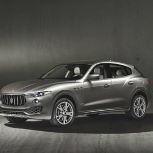 The exhibit explores how the Maserati Levante luxury SUV was manufactured and marketed. (photo courtesy of Maserati)