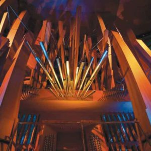 "The majestic organ at Walt Disney Concert Hall is called ""Hurricane Mama."" (photo courtesy of the LA Phil)"