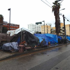 The rising homeless populaton has exacerbated the spread of hepatitis A in San Deigo and Los Angeles. (photo by Edwin Folven)