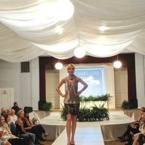 A model walks the runway in a design by Etcetera, which participated in the Woman's Club of Hollywood's special fashion show on Oct. 7. Etcetera creates diverse collections that keep up with runway trends with the support of trained stylists. (photo courtesy of The Woman's Club of Hollywood)