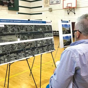 Residents had an opportunity to view proposed street plans to make Sixth Street safer. (photo by Luke Harold)