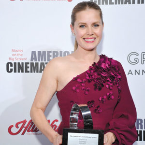 The 31st American Cinematheque Award Presentation honoring Amy Adams was presented by GRoW @ Annenberg. The third annual Sid Grauman Award, sponsored by Hill Valley, was presented to Richard Gelfond and Greg Foster on behalf of IMAX at The Beverly Hilton Hotel on Nov. 10. (photo by John Sciulli/Getty Images for American Cinematheque)