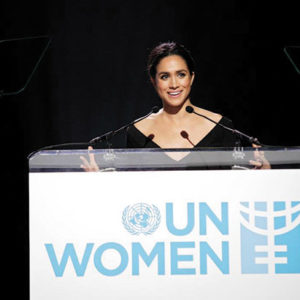 Immaculate Heart alumna Meghan Markle spoke at the UN on International Women's Day in 2015. (photo courtesy of  Immaculate Heart)