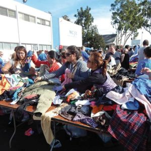 Clothing from the NCJW/LA's Council Thrift Shops will be distributed to people in need on Sunday. (photo by Edwin Folven)