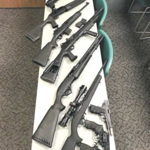 Police recovered nine firearms when they searched Smith's apartment in Hollywood. (photo courtesy of the Orange County Sheriff's Department)