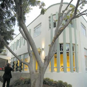 The West Hollywood City Council on Monday rededicated the Werle Building, a renovated structure on Robertson Boulevard. (photo by Edwin Folven)