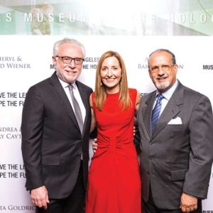 Attendees included gala honoree Wolf Blitzer, Los Angeles Museum of the Holocaust Executive Director Beth Kean and President Paul S. Nussbaum. (photo courtesy of the Los Angeles Museum of the Holocaust)