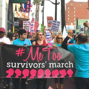 The grassroots #MeToo campaign grew on social media, and its supporters gathered in Hollywood for victims of sexual assault. (photo courtesy of Me Too Movement)