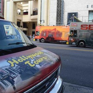 Tour bus operators amplifying their voices as they weave through the Hollywood Hills have caused disburbances for local residents. (Park Labrea News/Beverly Press file photo)