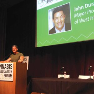 Councilman John Duran spoke at the city's third annual Cannabis Education forum earlier this year. (photo courtesy of the city of West Hollywood)