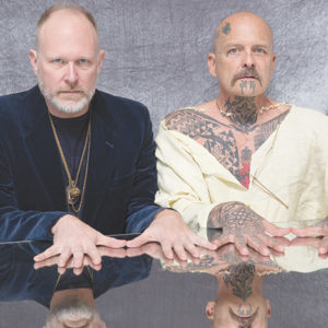"Sean Griffin (left) with Ron Athey collaborated for ""Gifts of The Spirit"" at The Broad. (photo by Paul Magi Sepuya)"
