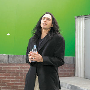 "James Franco gives a compelling performance in his portrayal of Tommy Wiseau in ""The Disaster Artist."" (photo courtesy of A24/Warner Bros.)"