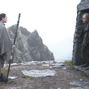 "Rey (Daisy Ridley) and Luke (Mark Hamill) return in the new blockbuster film, ""Star Wars: The Last Jedi."" (photo courtesy of Lucasfilm/Disney)"