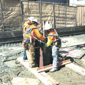 Crews are continuing construction of the Purple Line Extension subway project at multiple sites along Wilshire Boulevard. (photo courtesy of Metro)