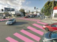 Melrose and La Brea is in the pink