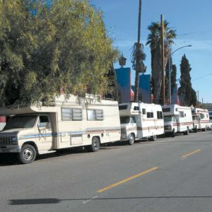 RVs housing homeless individuals are often parked on side streets in Hollywood. (photo by Edwin Folven)
