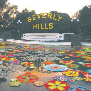 Beverly Hills BOLD events kicked off during the summer with a lily pond art installation. (photo courtesy of the city of Beverly Hills)