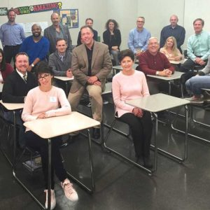 The 22 members of the district's Future Focused Schools team have been discussing options to reconfigure the district. (photo courtesy of the Beverly Hills Unified School District)