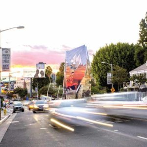 The billboard, which could be completed by 2019, would sit along the Sunset Strip. (photo courtesy of the city of West Hollywood)