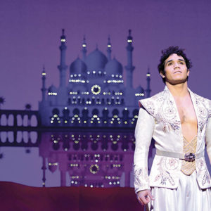 """Adam Jacobs plays the street-rat turned prince after he is granted three wishes by the Genie in Disney's """"Aladdin,"""" now playing at the Pantages Theatre. (photo by Deen van Meer)"""