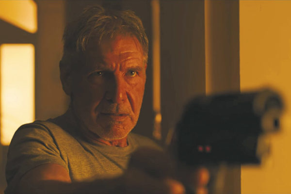 """Harrison Ford reprises his role as Rick Deckard in """"Blade Runner 2049."""" (photo courtesy of Warner Bros. Pictures)"""