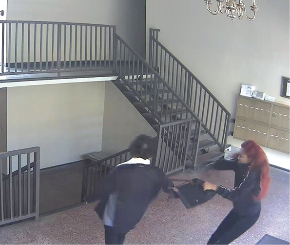 The victim struggled with the suspect and sustained minor injuries. (photo courtesy of the LAPD)