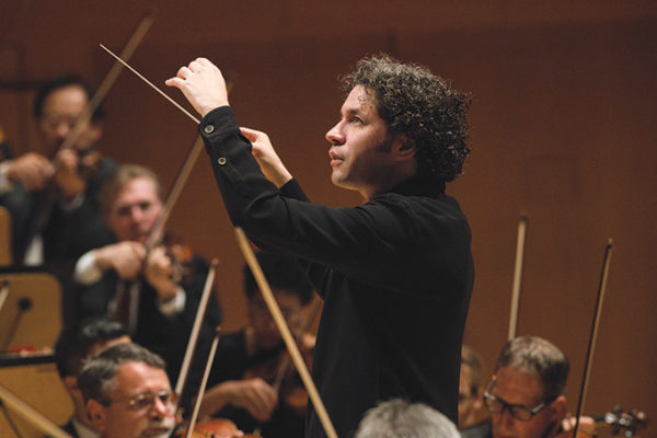 LA Phil music director Gustavo Dudamel will lead the orchestra in three performances later this month. (photo courtesy of Mathew Imaging)