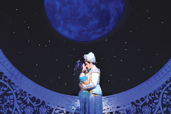 "Adam Jacobs stars as Aladdin and Isabelle McCalla as Jasmine in the production of ""Aladdin."" (photo by Deen van Meer)"