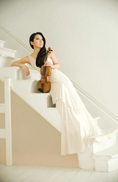 Sarah Chang (photo by Colin Bell, under license to EMI Classics)