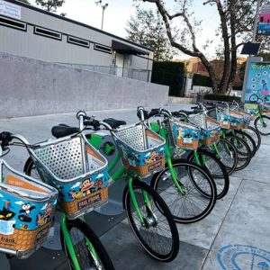 Riders have traveled tens of thousands of miles using WeHo Pedals while the program is operating at a projected deficit. (photo by Crystal Duan)