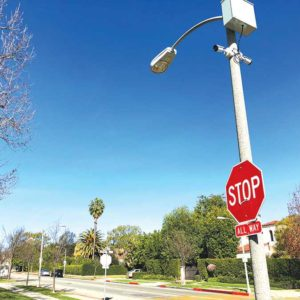 The intersection of Elverado Avenue and Rexford Drive is included in the pilot program. (photo by Luke Harold)