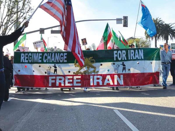 Iranian-Americans gathered in Westwood on Jan. 7 to show their support for protests against the government in Iran. (photo by Ari Bussel)