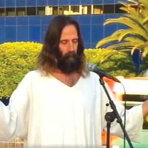 Short, pictured at a 2013 event in West Hollywood, adopted his Jesus persona about 10 years ago, according to a friend and neighbor. (photo courtesy of the city of West Hollywood)