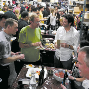 Events at Fancifull Fine Foods are well-attended and enjoyed. (photo courtesy of Fancifull Fine Food and Baskets)